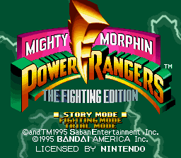 Mighty Morphin Power…